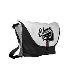 Cheer Mom Messenger Bag - parent school sports youth league