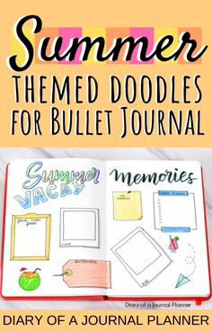 Make your summer bullet journal super cute with these DIY guides to summer-themed bullet journal doodles! Bullet Journal Hacks, Bullet Journal Themes, Bullet Journal Layout, Bullet Journal Inspiration, Journal Ideas, Doodle Inspiration, Simple Doodles, Cute Doodles, Happy Birthday Doodles