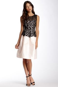 Donna Morgan Sleeveless Illusion Dress by Donna Morgan on @HauteLook