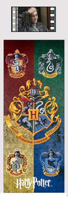 Harry Potter Hogwarts House Banners Collectible Bookmark