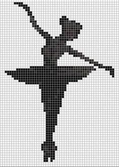 0 cross-stitch dancer ball - Diy And Craft Simple Cross Stitch, Cross Stitch Charts, Cross Stitch Designs, Cross Stitch Patterns, Graph Paper Drawings, Graph Paper Art, Pixel Crochet, Crochet Chart, Cross Stitching