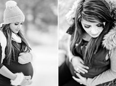 maternity portraits in the snow - colorado - on COUTUREcolorado BABY