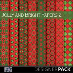I hope you enjoy these patterned papers in bright but traditional Christmas Colors of red and green. This set are a little bit country craft...
