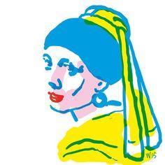 'Het meisje met de parel' van Vermeer volgens Wilma de Bock [op 31 oktober 2015, Vermeers 383-ste verjaardag]