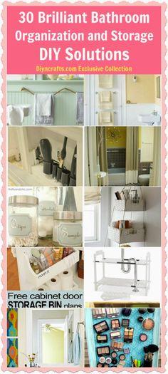30 Brilliant Bathroom Organization and Storage DIY Solutions bathroom design, bathroom interior design, diy solut, 30 brilliant, storag diy, bathrooms decor, brilliant bathroom, bathroom idea, bathroom organization