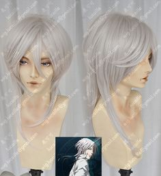 Psycho-Pass Makishima Shogo Silvery White Cosplay Party Wig_Lucaille WIG