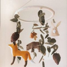 Hanging Crib, Hanging Mobile, Woodland Mobile, Woodland Nursery Decor, Mobile Photo, Bear Rug, Forest Creatures, Thing 1, Cute Elephant