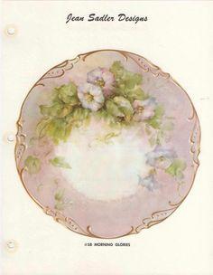 Jean Sadler China Painting Study 58 Morning Glories   eBay