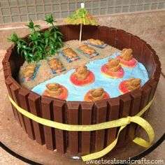 Beach Party Kit Kat Cake