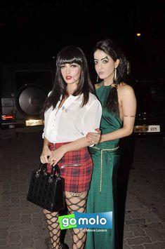 Riya Sen & Raima Sen at Rocky S' Halloween bash at Aurus in Mumbai