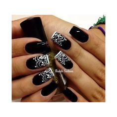 Image uploaded by Mariniki L.. Find images and videos about black, nails and nail art on We Heart It - the app to get lost in what you love.