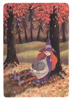 A nap in the woods by heikala on @DeviantArt