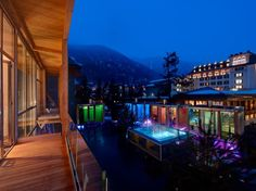 Backstage Hotel Vernissage, Zermatt, Switzerland, is a 19-room glass-fronted high-design hotel in the shadow of the Matterhorn, steps from the terminus of the Glacier Express train.