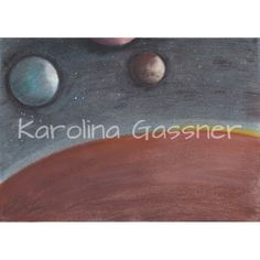 """Constellation"" by Karolina Gassner (2011) oil pastels on paper (size A4."