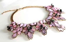 Statement Kette LUXURY CRYSTAL in pink