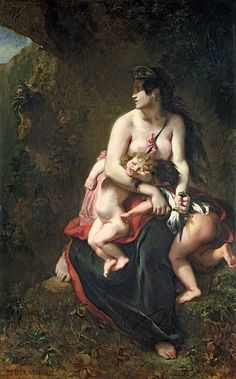 Medea,    Ferdinand Victor Eugene Delacroix