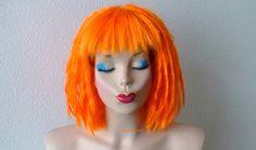 Leeloo Cosplay wig. Orange dreadlocks wig. Orange wig. Short orange wig. Cosplay wig. Costume wig. Adult Halloween Costume wig. (149.95 USD) by kekeshop