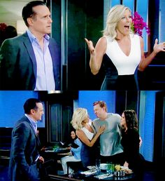 Sam Morgan: We have news. Jason Morgan: We're getting married! Carly Corinthos: AH! Sonny Corinthos: It's about damn time! #JaSam #CarSon