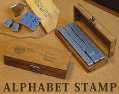 Stamp アンティーク調木製アルファベットスタンプ42個セット インテリア 雑貨 家具 Antique ¥1480yen 〆05月18日