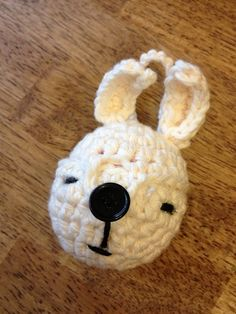 White Rabbit EOS Lip Balm Holder/Treat Pouch - (EOS not included) on Etsy, $9.75