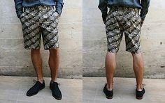 zebra printed shorts. Gitman Brothers