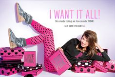 VS Pink gift card, any amount. (VS stands for Victoria Secret. Pink is one of their lines that has clothes, not just undies, for teens). Pink Love, Vs Pink, Pink Outfits, Cute Outfits, Teen Christmas Gifts, Christmas Ideas, Victoria Secret Outfits, Pink Trees, Cute Bras