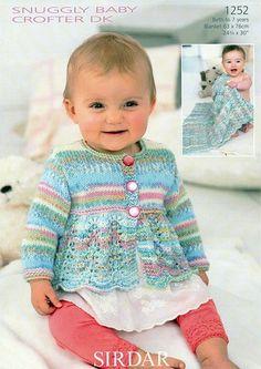 Cardigan and Blanket in Sirdar Snuggly Baby Crofter DK (1252)-Deramores