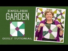 """Make an """"English Garden"""" Quilt with Jenny Doan of Missouri Star (Video Tutorial) Jenny Doan Tutorials, Msqc Tutorials, Quilting Tutorials, Quilting Ideas, Quilting Classes, Missouri Quilt, Layer Cake Quilts, Layer Cakes, Easy Quilts"""