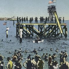 Harris's Bathing Slide South Beach, Staten Island.  U.S. History, Local History and Genealogy Division.