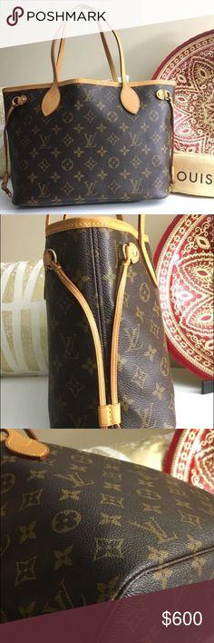 Louie vuttion bag Auth LOUIS VUITTON Neverfull PM Small Tote Shoulder Bag - Monogram Canvas Louis Vuitton Bags Shoulder Bags