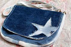 Denim messenger bag  Everyday bag Handmade shoulder bag Casual bag Procarved applique Star bag  Recycled bag Crossbody jeans bag Clutch by Bejawuoshop on Etsy https://www.etsy.com/uk/listing/536572727/denim-messenger-bag-everyday-bag