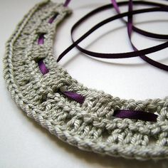 #Knitted necklace    repin .. like .. comment  :)    http://amzn.to/ZkZaw0