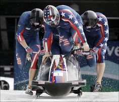 US men's bobsled team Special Olympics, Winter Olympics, Olympic Sports, Olympic Games, Bobsleigh, Kona Coffee, Olympic Gold Medals, Racing Helmets, Us Man