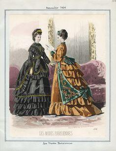 Casey Fashion Plates Detail | Los Angeles Public Library Les Modes Parisiennes Date:  Monday, November 1, 1869
