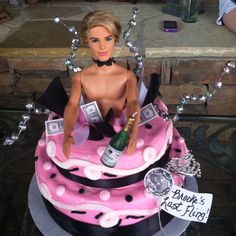 Because we probably don't want a real stripper...maybe this Barbie Doll Stripper Cake will suffice?@Amanda Koch plz;)