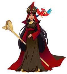 art disney beauty and the beast aladdin genderbend Jafar rule 63 disney prince imagine iago being voiced by fran drescher