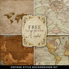 Far Far Hill - Free database of digital illustrations and papers: Freebies Vintage Kit Printable Maps, Free Printables, Printable Vintage, Far Hills, Old Maps, Vintage Maps, Antique Maps, Vintage Style, Free Paper
