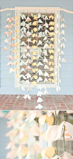 Could be done with paper- pastel DIY Florida wedding