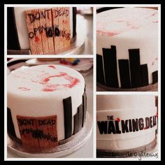 The Walking Dead Cake for a friend by me  (L'ile O gâteaux)