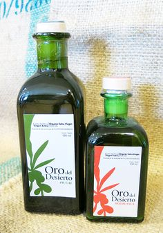 Oro del Desierto olja. Olive Oil, Bottle, Wilderness, Gold, Flask