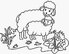 Schaf Ausmalbilder tiere 27 | Vorlagen+Schablonen | Pinterest | 18th
