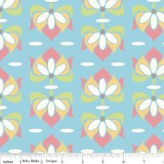 """Priscilla Floral Blue  Width: 112cm/42-44""""   Priced by the metre and sold in 1m increments."""