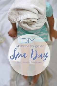 Mother and Daughter Spa Day - Our Kerrazy Adventure Diy Beauty Treatments, Home Spa Treatments, Hair Treatments, Diy Spa Day, Spa Day At Home, Mother Daughter Dates, Diy Mother Daughter Spa Day, Mother Daughter Activities, Mothers Day Spa