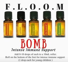 Feeling under the weather? FLOOM is the answer! Powerful essential oils that are antiviral and antibacterial. Frankincense, Lavender, Oregano, On Guard and Melaleuca #doterra #essentialoils