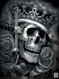 Suicide King Poster Totenkopf Tattoo Mann, Totenkopf Tattoos, Og Abel Art, King Tattoos, Skull Tattoos, Hard Tattoos, Art Harley Davidson, Tattoo Crane, Design Dragon