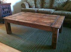 Rustic reclaimed wood pallet coffee table by ReclaimedWoodDesigns, $275.00
