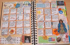 I LOVE this idea for calendar journaling ~ Quick and easy and something to share with the kids and the grandkids