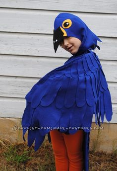 Coolest Blue Macaw Parrot Costume ...This website is the Pinterest of costumes