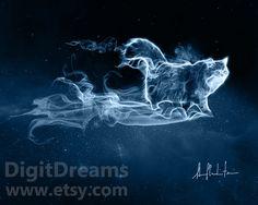 Persian Cat Patronus of Dolores Jane Umbridge by DigitDreams on Etsy, €7.10