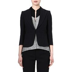 MAJE Elypsa short jacket (Black)  Would also look great with black, white or blue jeans. This is a brilliant investment. Will give skinny arms and will go over any top or dress.
